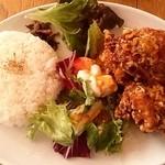 16308701 - 唐揚げネギソース 1,000円  白米大盛  ご飯と唐揚げが大きい!