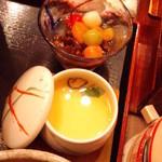 かんながら - あんみつ・茶碗蒸し(2012.11月)
