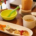 つむぐカフェ - 前菜3種