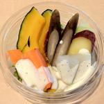 ぽっくる農園 - 低温蒸しサラダ:150円(2012年12月)