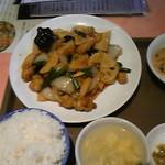 16318843 - 鶏肉の甘酢辛味炒め