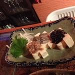 16320710 - お豆腐に珍味がのってます