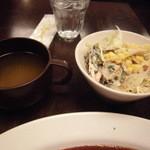 16321454 - セットのスープとサラダはセルフ