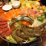 ベトナムちゃん - 2012.12 ベトナムレモングラス海鮮鍋(1人前2,500円を5人前)