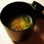 桜鶴苑 - 小吸物:蟹摺り流し