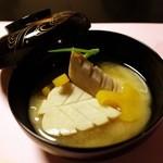 桜鶴苑 - 焚物 木の葉海老芋白味噌仕立て