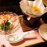 桜鶴苑 - 鍋物:寒鰤梅香しゃぶしゃぶ