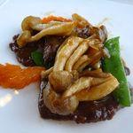 中国料理 「望海楼」 - 牛肉のオイスターソース・・中華の定番ですね。牛肉は柔らかいですヨ。普通に美味しいかな。