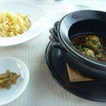 中国料理 「望海楼」 - 白子の麻婆土鍋仕立て・・白子を麻婆味で頂くのは初めて。どんなお味かなと思いましたが、辛みが抑えられ白子とよく合いますね。