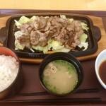 ぎゅーぎゅー亭 - 焼肉定食(980円)