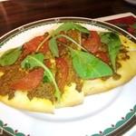 スペインバル ミ・カーサ - ドライカレーのスペインピザ