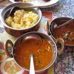 インドレストランゲイロード - 2012年のスペシャルランチ(チキンキーマカレ―、マトンカレー、サフランライス)