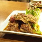 52 - 牛ハラミステーキ 花椒ソース