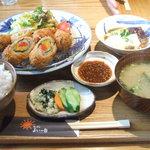 1634859 - やさい肉巻き定食:1380円(税込1449円)