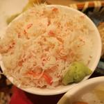 海老善 - 花籠盛り御前 ズワイ蟹丼