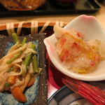 海老善 - 花籠盛り御膳 蟹の煮こごり 山菜添え
