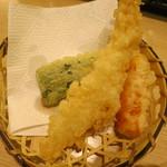 海老善 - 花籠盛り御前 海老と野菜の天婦羅