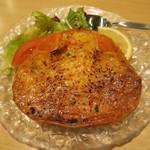 海老善 - ズワイ蟹の甲羅焼き 740円