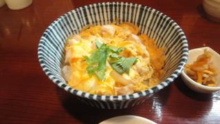銀蕎麦 國定 - 親子丼セット(1200円)の小さな親子丼