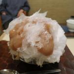 だるまや餅菓子店 - 和栗のかき氷
