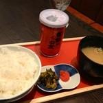 博多 弁天堂 - ご飯セット