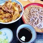そば処吉野家 - 牛丼と十割そばセット
