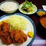 とんかつ叶 - 味噌とんかつ定食(ヒレ)