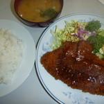 きっちんコバヤシ - ポークカツ 味噌汁付き