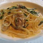16358160 - 広島から来た牡蠣と本日の鎌倉野菜のパペッティーネクリームソース