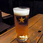 どんど晴 - エビスグラスビール(420円)
