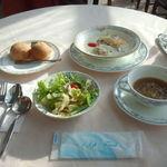 にかほ温泉 旅館いちゑ - 海鮮シチュー オニオンスープ