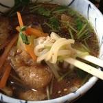 大橋屋 - 田舎うどんのつけ汁、野菜たっぷり