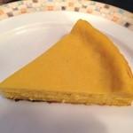 カフェ ジータ - カボチャのチーズケーキのアップ