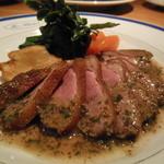K's Diner - 料理写真:真鴨のロースト マスタード風味ソース¥1800