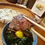 そば さくら - 猪肉!!