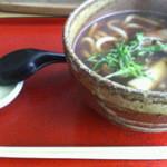 翡翠館 てんぐの蔵 - 鴨南うどん 1,100円 2012/12