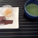 フレンド - 抹茶とチョコレートケーキとラフランスのヨーグルト☆