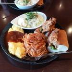 レクルス - スパセット から揚げドッグ&オムレツ 780円