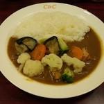 カレーショップ C&C - 5品目のゴロゴロ温野菜カレー