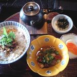京風酒菜 釜ん座 - うな茶漬け(おばんざい一品・漬けもの付き)