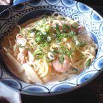 京風酒菜 釜ん座 - 京風スパゲッティ(海老とかにの京風クリームソース)
