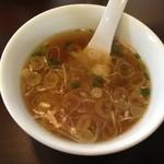 おおぼし - 油そばのスープ おおぼし