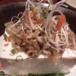 狸goten - ザーサイが、たっぷり乗った豆腐