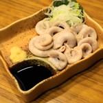 もつ焼きおとんば - 2012.12 コブクロ刺し(400円)