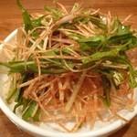 韓国家庭料理・鍋料理 宮 - 2012.12 チゲ鍋に付いてきた生野菜、、有料無料どっちだったかは不明