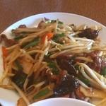 中国料理聚仙 - ニラレバ炒め定食  スタミナ満点です。