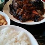 16408230 - 茄子の肉炒め定食は日替わり(≧▽≦)(火)