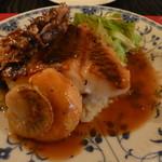 ビストロ 古川亭 - ブダイのポアレ 牡蠣、ホタテと共に
