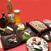 Kuraya - 料理写真:夕暮れセット:1,800円(17時〜19時まで)・おつまみ五品+十割そば+焼酎のそば湯割り又は日本酒又は生ビール付き