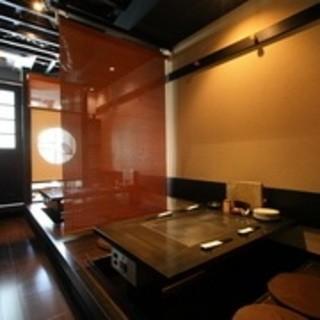 完全個室ほか、全席半個室形式。